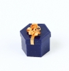 Hexagonal box with bow for ring