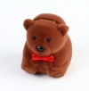 Teddy bear-shaped box with bow for ring