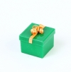 Square box with bow for ring