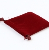 Square velvet bag with string