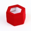 Hexagonal ring box with window